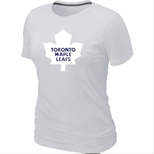 Women's Toronto Maple Leafs Big & Tall Logo White NHL T-Shirt