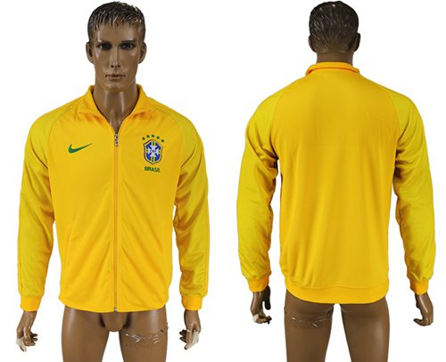 Brazil Soccer Jackets Yellow