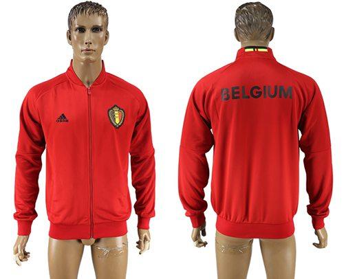 Belgium Soccer Jackets Red