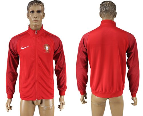 Portugal Soccer Jackets Red