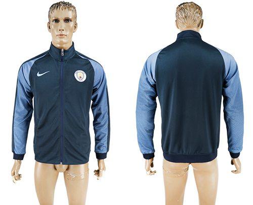 Manchester City Soccer Jackets Dark Blue