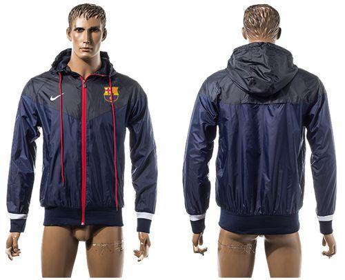 Barcelona Soccer Jackets Dark Blue