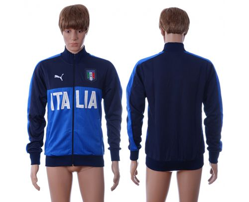 Italy Home Soccer Jackets Blue