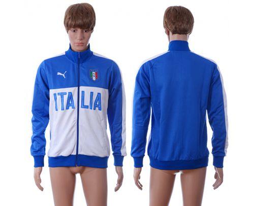Italy Away Soccer Jackets Blue