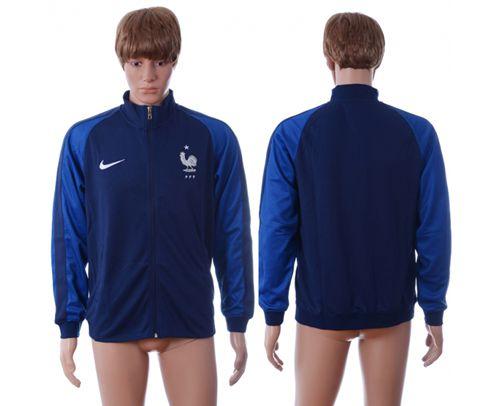 France Home Soccer Jackets Blue