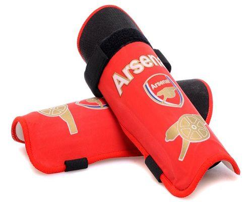 Arsenal Soccer Shin Guards Red
