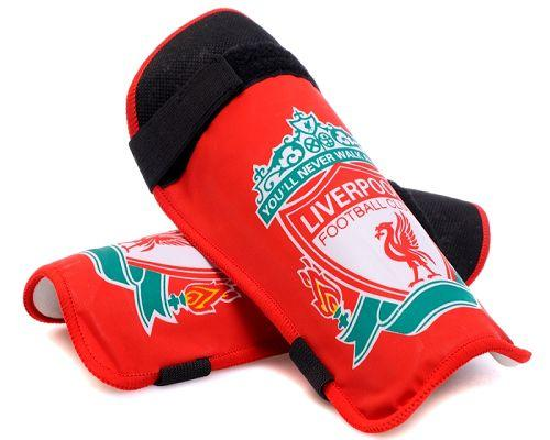Liverpool Soccer Shin Guards Red