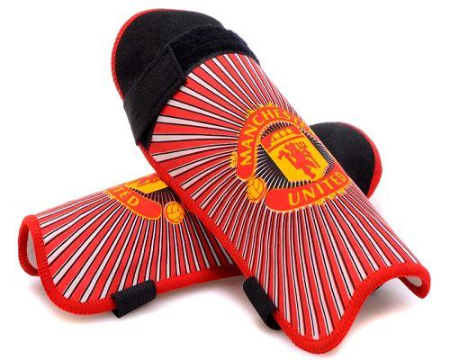 Manchester United Soccer Shin Guards Red
