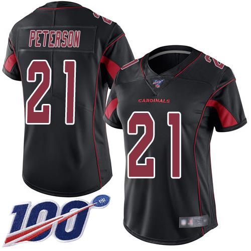 Nike Cardinals #21 Patrick Peterson Black Women's Stitched NFL Limited Rush 100th Season Jersey