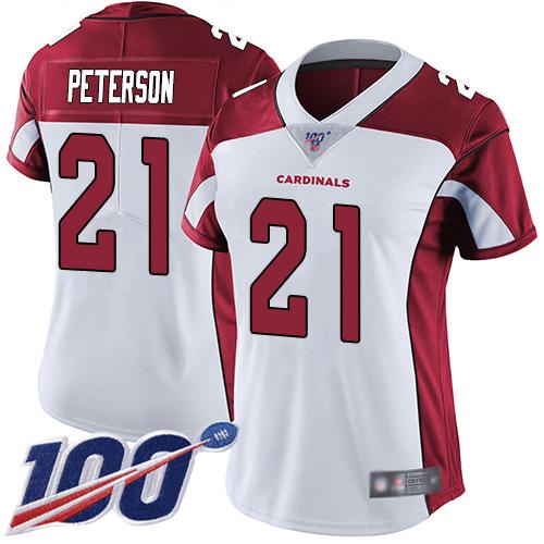 Nike Cardinals #21 Patrick Peterson White Women's Stitched NFL 100th Season Vapor Limited Jersey