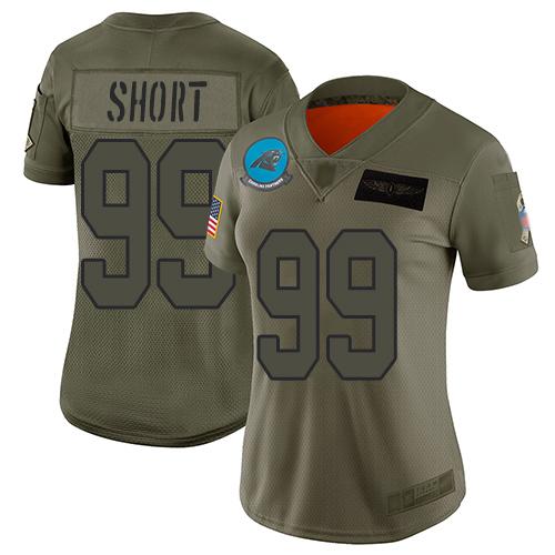 Nike Panthers #99 Kawann Short Camo Women's Stitched NFL Limited 2019 Salute to Service Jersey