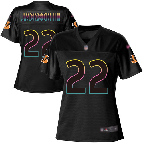 Nike Bengals #22 William Jackson III Black Women's NFL Fashion Game Jersey