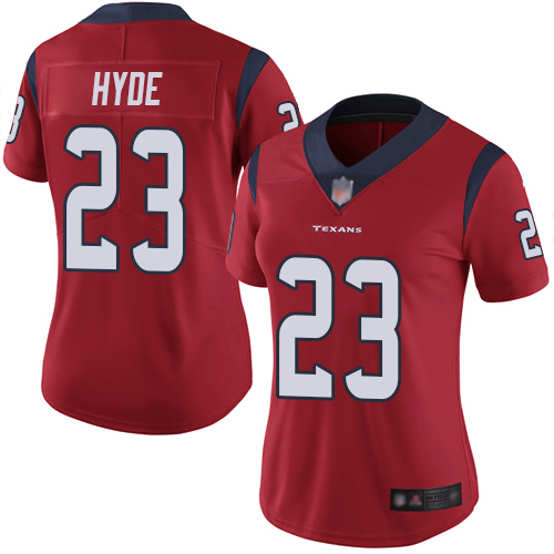 Nike Texans #23 Carlos Hyde Red Alternate Women's Stitched NFL Vapor Untouchable Limited Jersey
