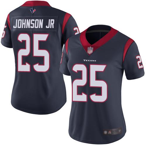 Nike Texans #25 Duke Johnson Jr Navy Blue Team Color Women's Stitched NFL Vapor Untouchable Limited Jersey
