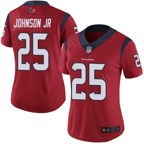 Nike Texans #25 Duke Johnson Jr Red Alternate Women's Stitched NFL Vapor Untouchable Limited Jersey