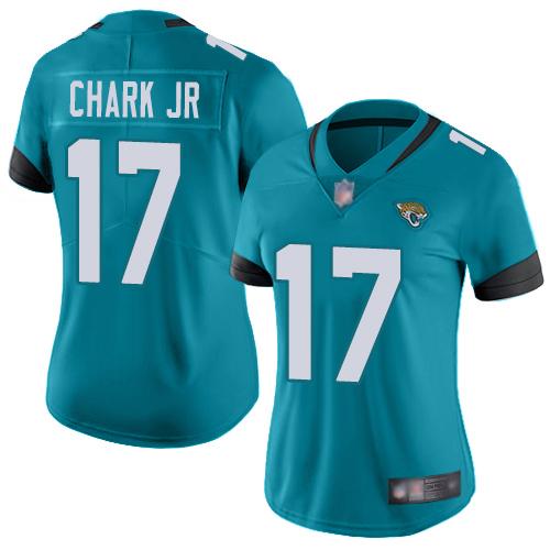Nike Jaguars #17 DJ Chark Jr Teal Green Alternate Women's Stitched NFL Vapor Untouchable Limited Jersey