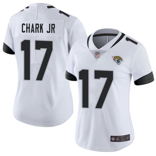 Nike Jaguars #17 DJ Chark Jr White Women's Stitched NFL Vapor Untouchable Limited Jersey