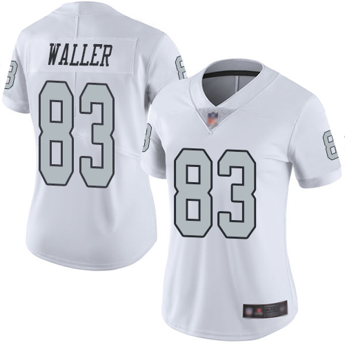 Nike Raiders #83 Darren Waller White Women's Stitched NFL Limited Rush Jersey