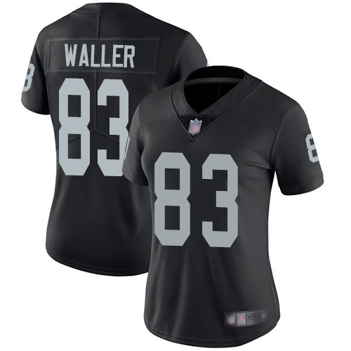 Nike Raiders #83 Darren Waller Black Team Color Women's Stitched NFL Vapor Untouchable Limited Jersey