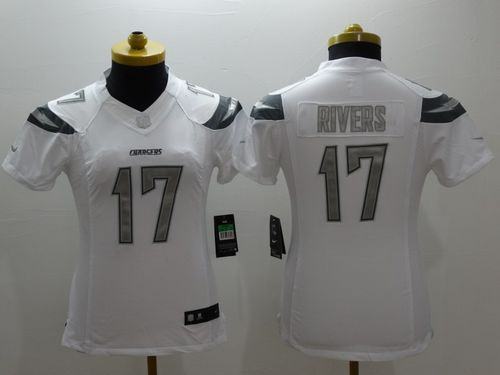 Nike Chargers #17 Philip Rivers White Women's Stitched NFL Limited Platinum Jersey