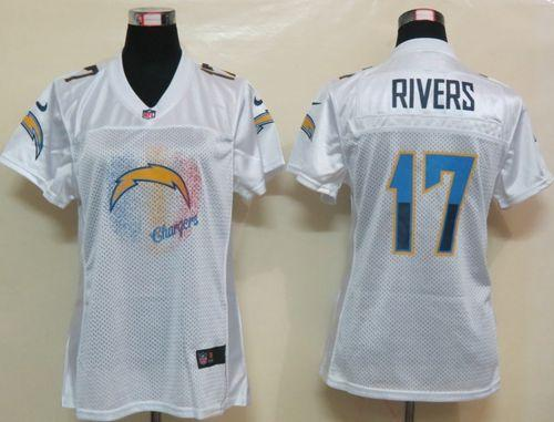 Nike Chargers #17 Philip Rivers White Women's Fem Fan NFL Game Jersey