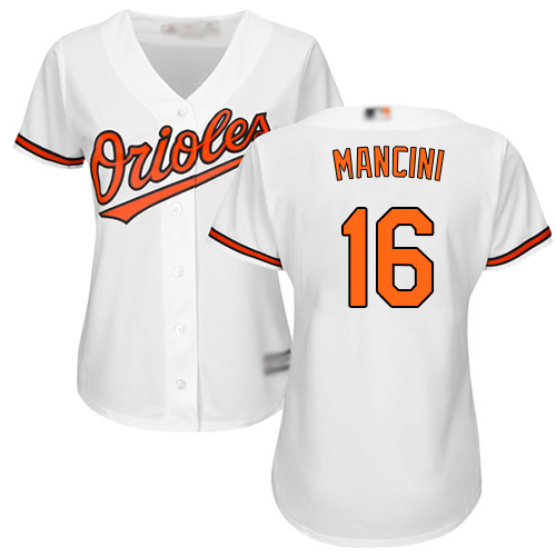 Orioles #16 Trey Mancini White Home Women's Stitched MLB Jersey