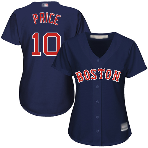 Red Sox #10 David Price Navy Blue Alternate Women's Stitched MLB Jersey