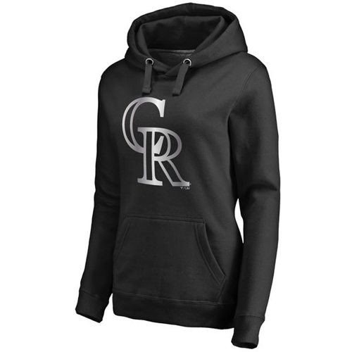 Women's Colorado Rockies Platinum Collection Pullover Hoodie Black