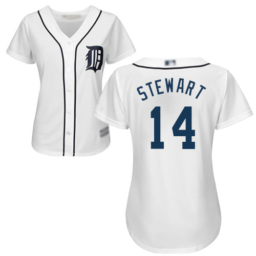 Tigers #14 Christin Stewart White Home Women's Stitched MLB Jersey