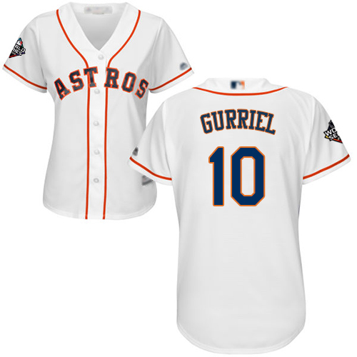 Astros #10 Yuli Gurriel White Home 2019 World Series Bound Women's Stitched MLB Jersey