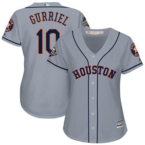 Astros #10 Yuli Gurriel Grey Road 2019 World Series Bound Women's Stitched MLB Jersey