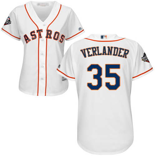 Astros #35 Justin Verlander White Home 2019 World Series Bound Women's Stitched MLB Jersey