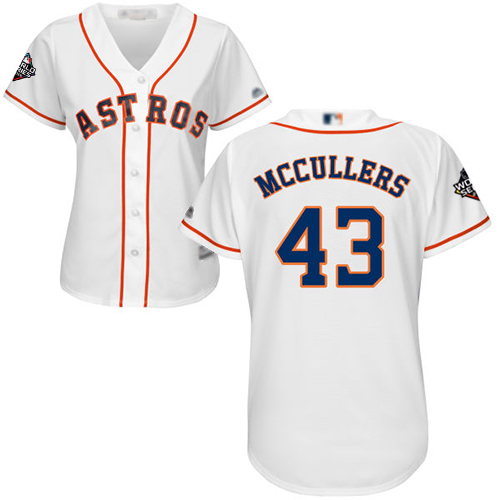 Astros #43 Lance McCullers White Home 2019 World Series Bound Women's Stitched MLB Jersey