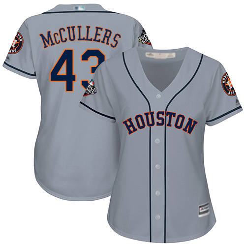 Astros #43 Lance McCullers Grey Road 2019 World Series Bound Women's Stitched MLB Jersey