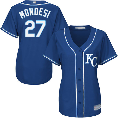 Royals #27 Raul Mondesi Royal Blue Alternate Women's Stitched MLB Jersey