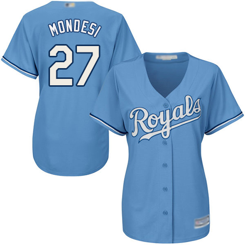 Royals #27 Raul Mondesi Light Blue Alternate Women's Stitched MLB Jersey