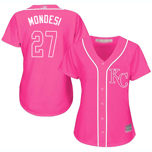 Royals #27 Raul Mondesi Pink Fashion Women's Stitched MLB Jersey