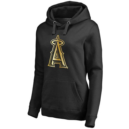 Women's Los Angeles Angels of Anaheim Gold Collection Pullover Hoodie Black