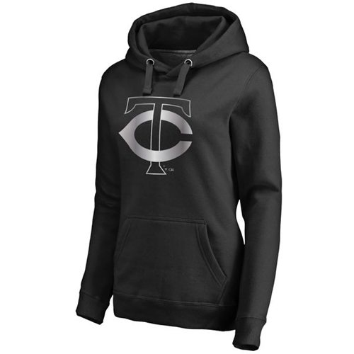 Women's Minnesota Twins Platinum Collection Pullover Hoodie Black