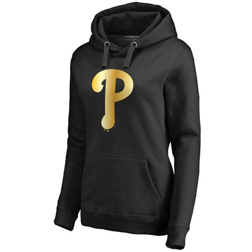 Women's Philadelphia Phillies Gold Collection Pullover Hoodie Black