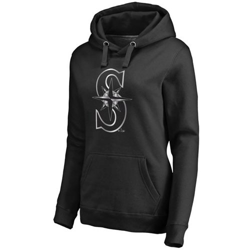 Women's Seattle Mariners Platinum Collection Pullover Hoodie Black