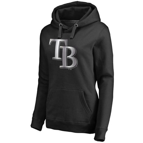Women's Tampa Bay Rays Platinum Collection Pullover Hoodie Black