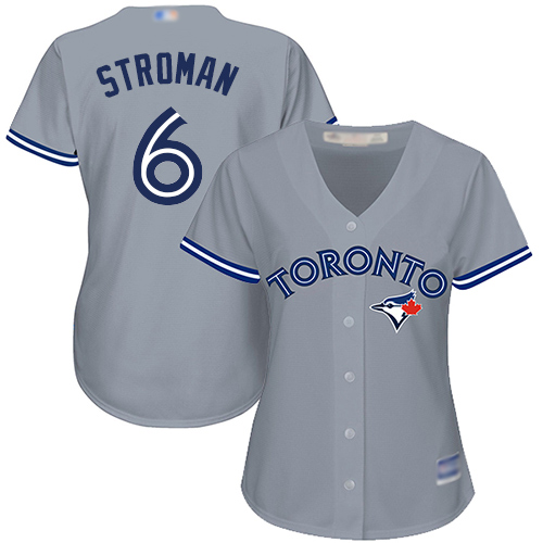 Blue Jays #6 Marcus Stroman Grey Road Women's Stitched MLB Jersey