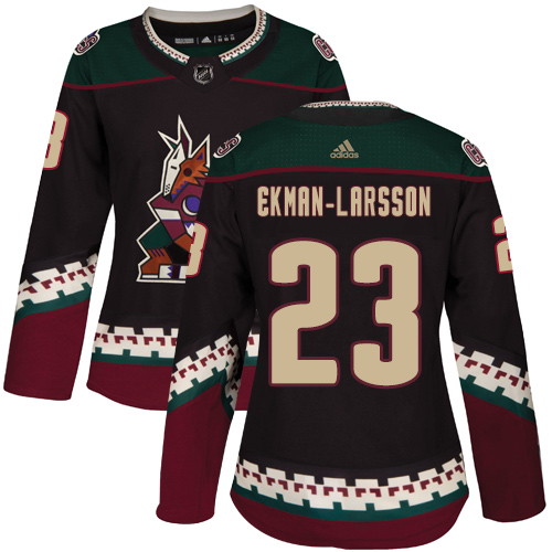 Adidas Coyotes #23 Oliver Ekman-Larsson Black Alternate Authentic Women's Stitched NHL Jersey