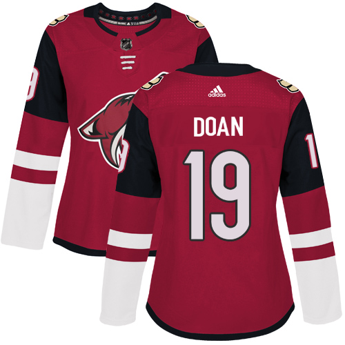Adidas Coyotes #19 Shane Doan Maroon Home Authentic Women's Stitched NHL Jersey