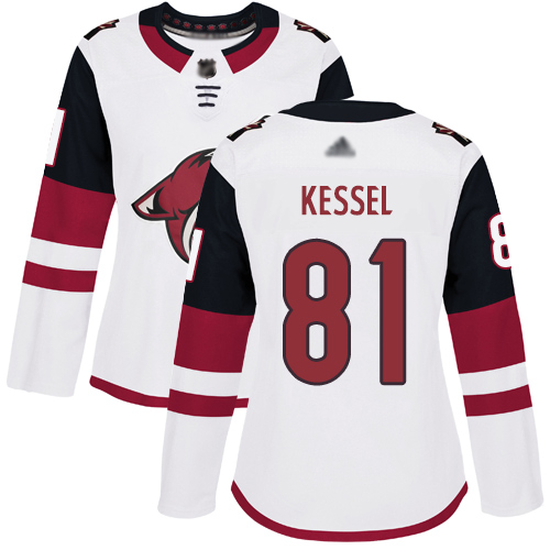 Adidas Coyotes #81 Phil Kessel White Road Authentic Women's Stitched NHL Jersey