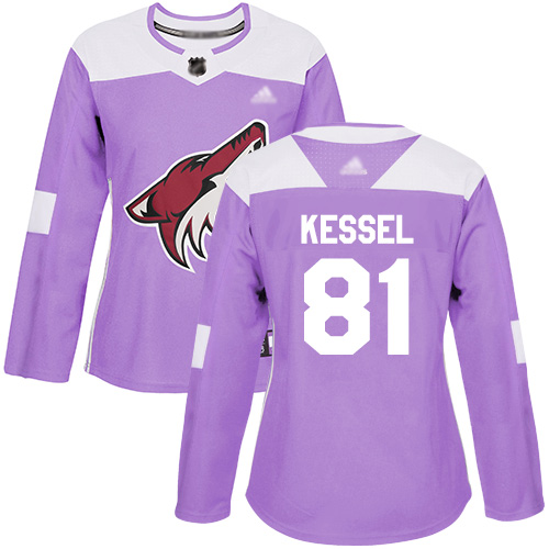 Adidas Coyotes #81 Phil Kessel Purple Authentic Fights Cancer Women's Stitched NHL Jersey