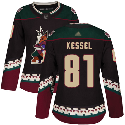 Adidas Coyotes #81 Phil Kessel Black Alternate Authentic Women's Stitched NHL Jersey