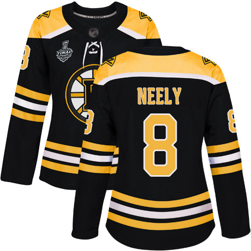 Adidas Bruins #8 Cam Neely Black Home Authentic Stanley Cup Final Bound Women's Stitched NHL Jersey