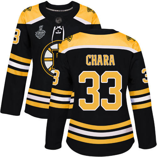 Adidas Bruins #33 Zdeno Chara Black Home Authentic Stanley Cup Final Bound Women's Stitched NHL Jersey
